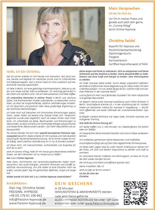 2020_03 Artikel Frankenpost Freisinn Hypnose Christina Seidel